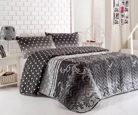 Set s prešitim posteljnim pregrinjalom Single Dots Grey