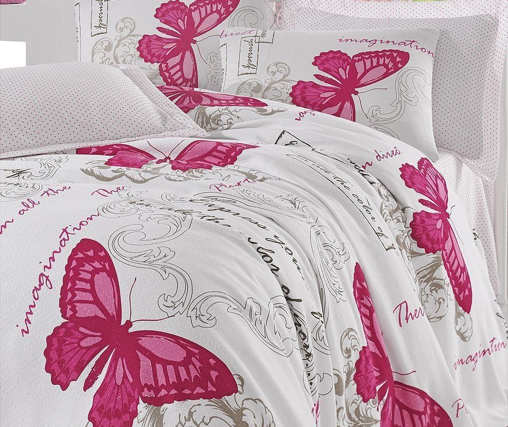Lenjerie de pat Single Pique Huge Butterflies