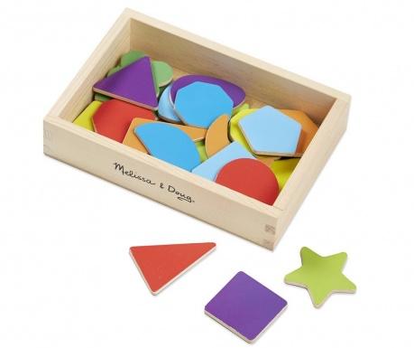 Set 25 magnetnih oblika i kutija Geometric