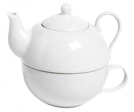 Set ceainic cu ceasca Simply White