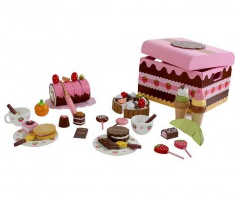 Set cutie cu dulciuri de jucarie Sweeties