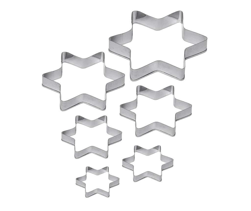 Star 6 db Sütemény kiszúró forma