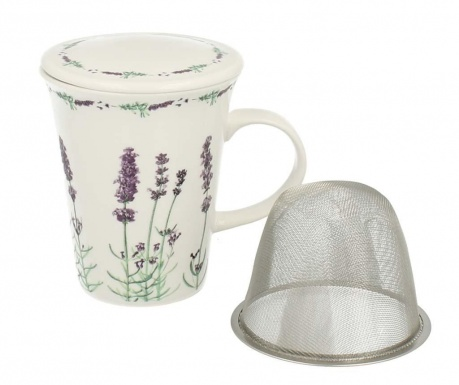 Mug with lid and infuser Country Lavander 250 ml