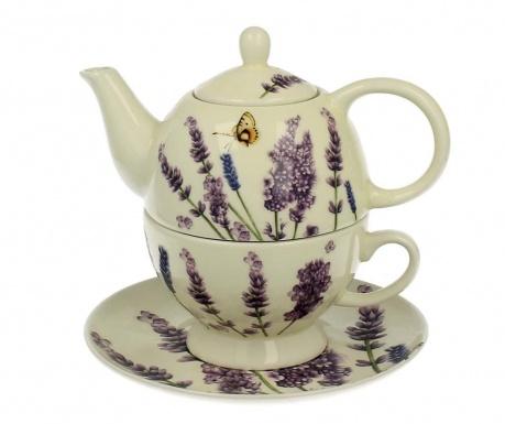 Sada čajník, šálka a tanierik Lavender Time