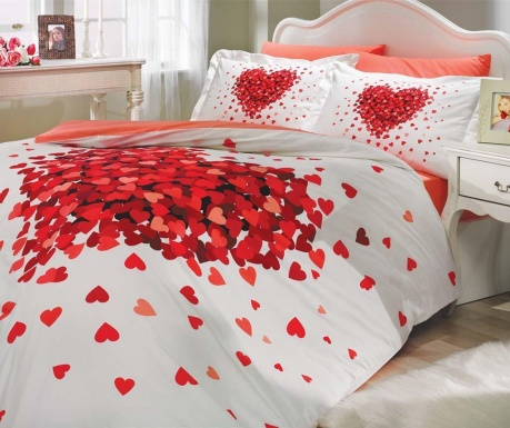 Спално бельо King Poplin Juana Red
