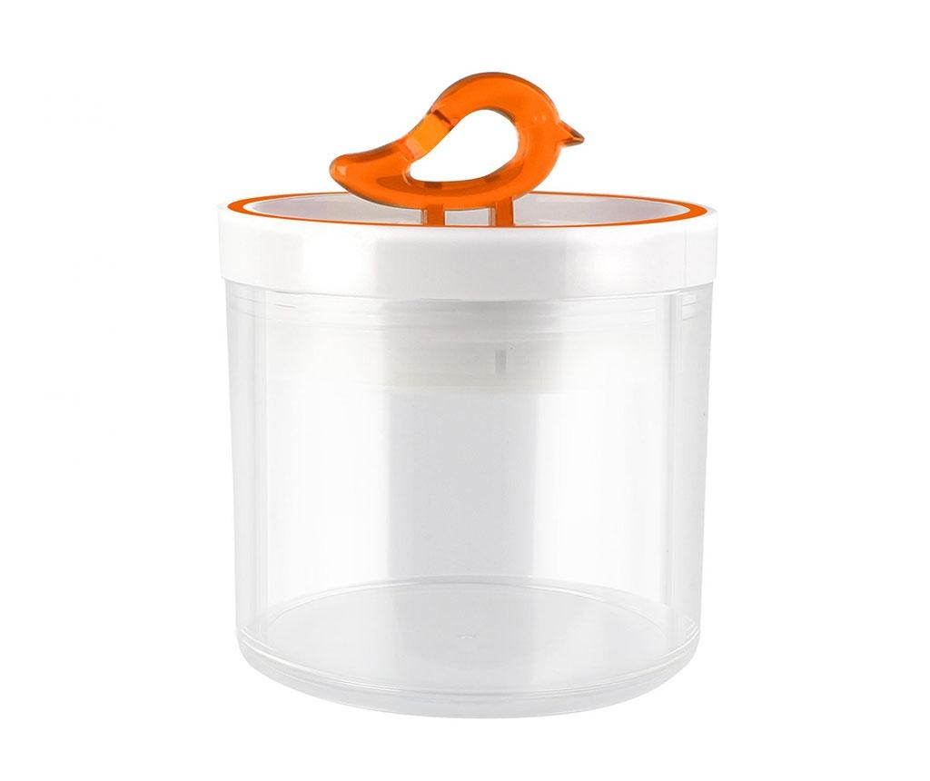 Recipient cu capac Livio Bird Orange 400 ml