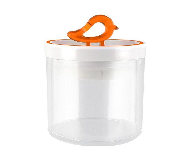 Recipient cu capac Livio Bird Orange 400 ml