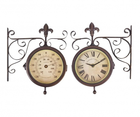 Zidni sat za vanjski prostor Double Faced