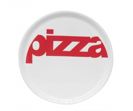 Red Word Pizzatál