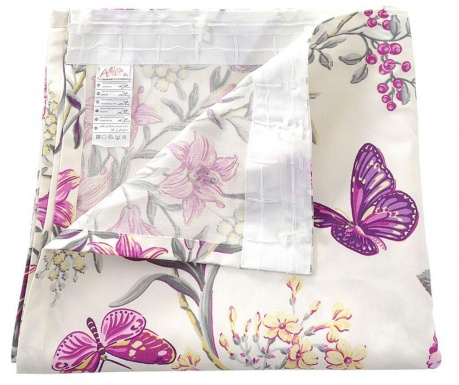Zastor Purple Butterfly 135x270 cm