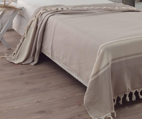Posteljno pregrinjalo Elmas Light Brown 200x240 cm