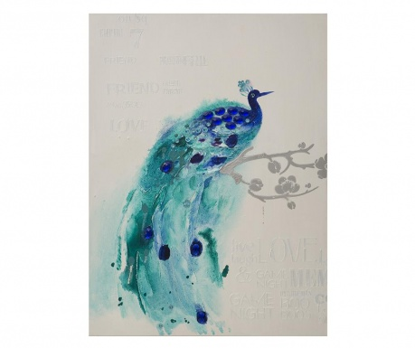 Obraz Blue Feathers 90x120 cm