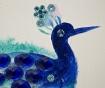 Slika Blue Feathers 90x120 cm