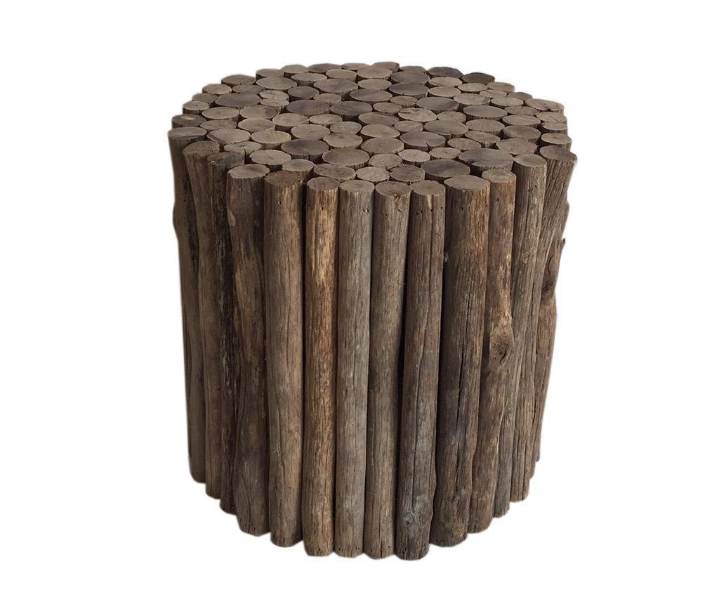 Taburet Holz Round
