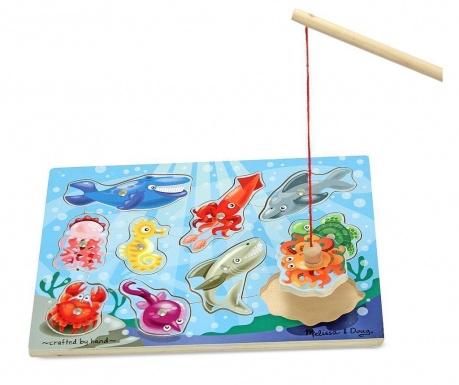 Joc de pescuit magnetic 12 piese Sea World