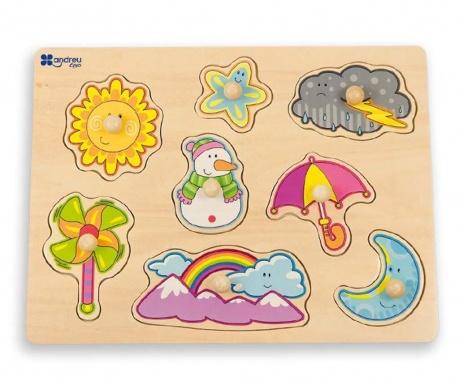Zabawka typu puzzle 8 elementów Weather