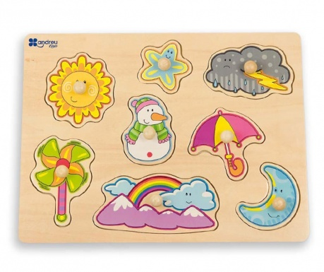 Joc tip puzzle 8 piese Weather