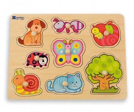 Joc tip puzzle 8 piese Garden