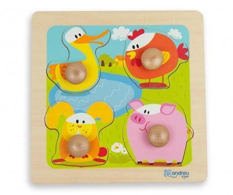Joc tip puzzle 4 piese Little Ones