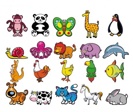 Set 20 magneta Animals