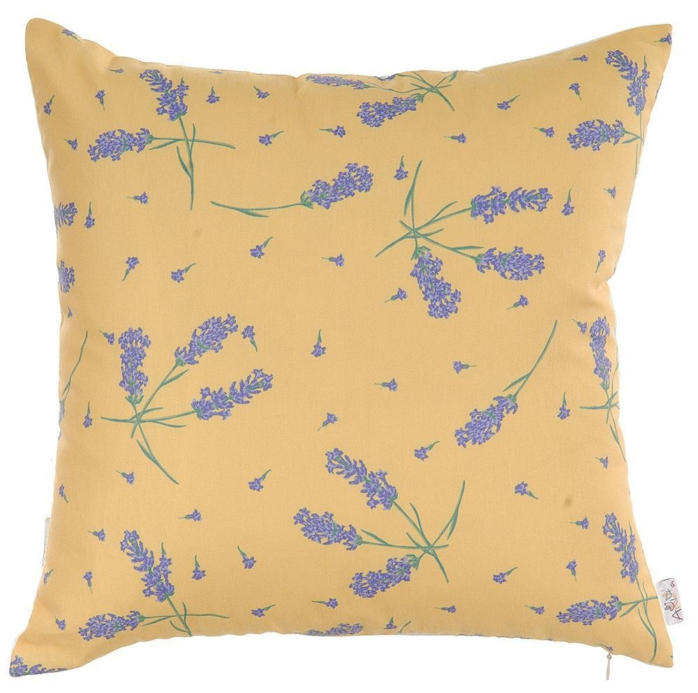 Fata de perna Lavender on Orange 43x43 cm