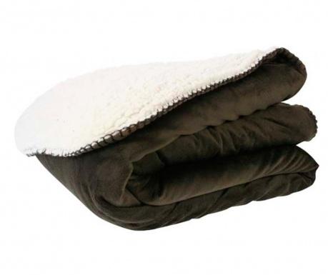 Priročna odeja Pecora Brown White 130x160 cm