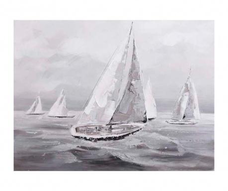 Sea Boat Festmény 90x120 cm