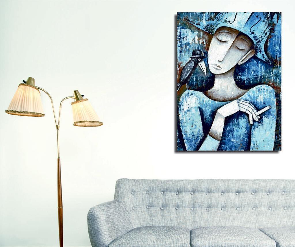 Tablou Lady & Bird 30x40 cm