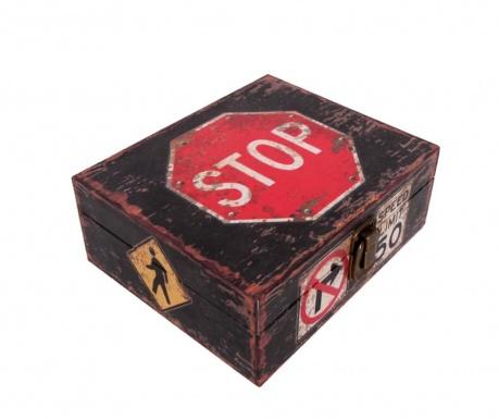 Кутия с капак Stop Sign