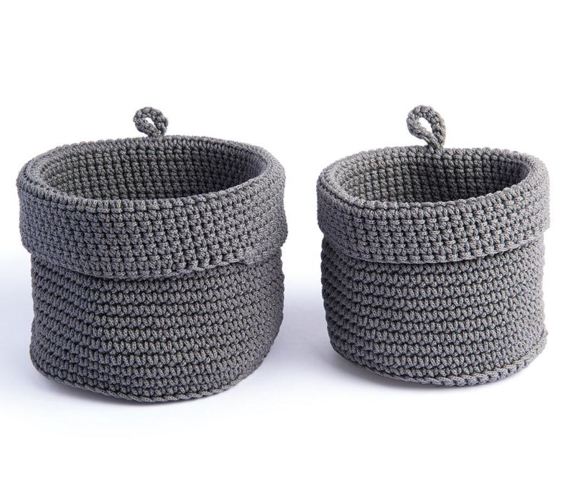 Set 2 cosuri Round Grey