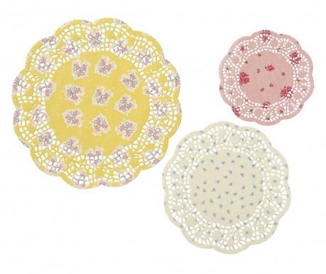 Комплект 24 декоративни подложки Flowers