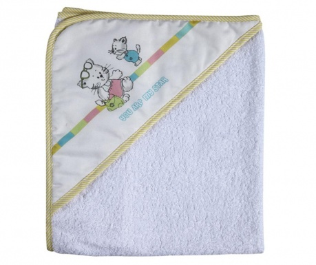 Prosop de baie pentru copii You Are My Star Cats 75x75 cm