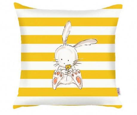 Fata de perna Bunny Yellow Straight Lines 35x35 cm