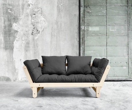 Sofa extensibila Daydream Natural & Dark Grey
