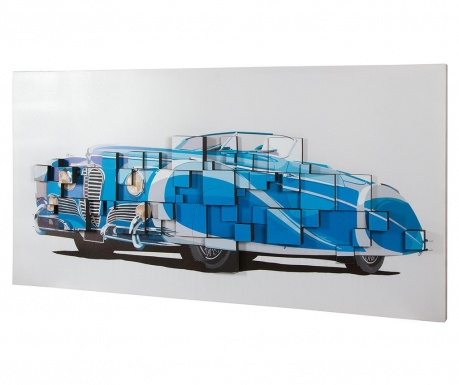 Vintage Car 3D Effect Kép 70x140 cm