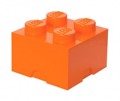 Kutija za pohranu s poklopcem Lego Square Four Orange