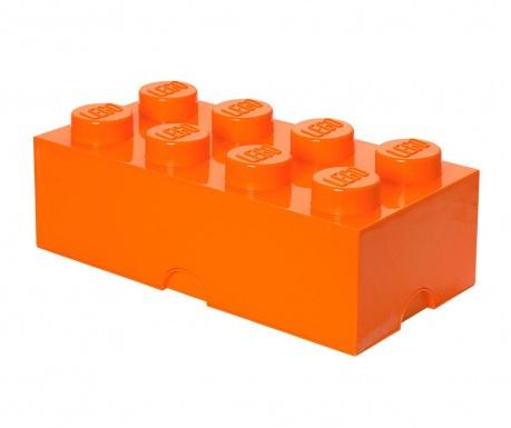 Kutija za pohranu s poklopcem Lego Rectangular Extra Orange