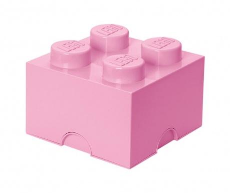 Kutija za pohranu s poklopcem Lego Square Four Light Purple