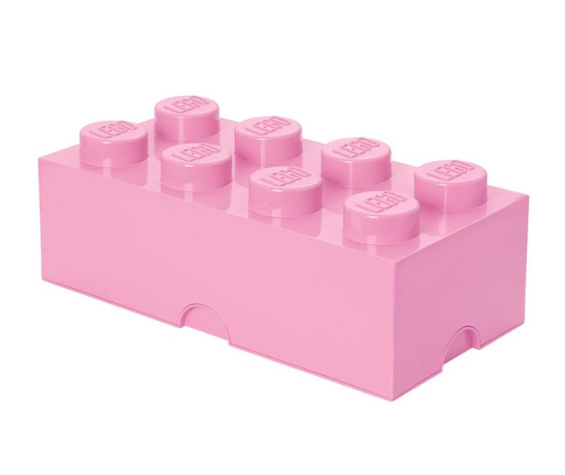 Cutie cu capac Lego Rectangular Extra Light Pink
