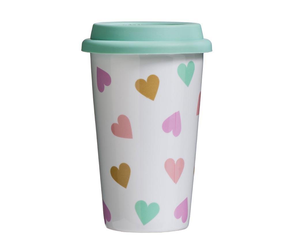 Cana pentru calatorie Love Confetti 330 ml