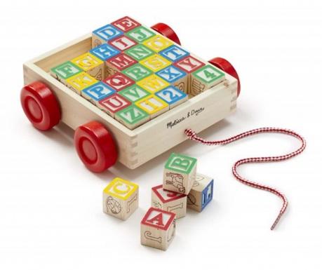 Igračka za vučenje s 30 kocki Alfabet