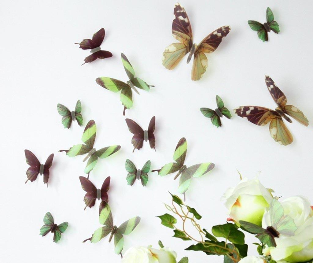 Set 18 3D nalepk Night Butterfly