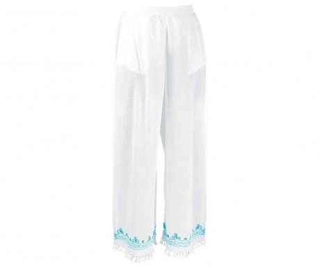 Plážové nohavice Long Turquoise M