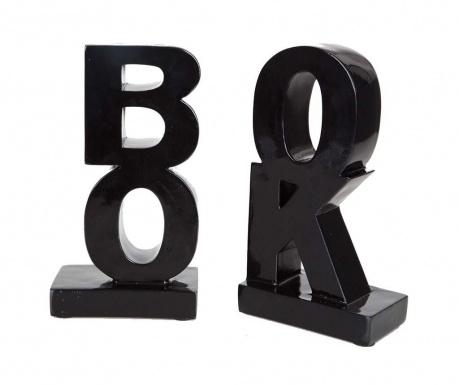 Sada 2 knižných zarážok Book Black