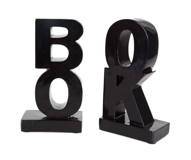 Set 2 suporturi pentru carti Book Black