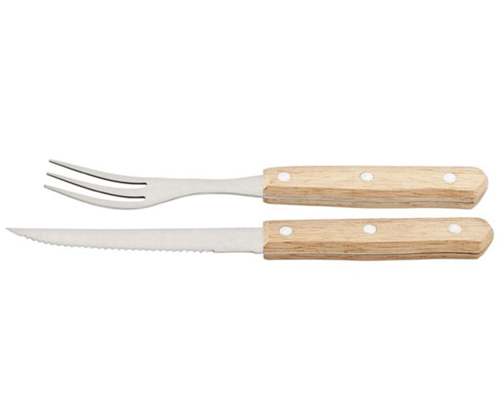 Set 6 nožev in 6 vilic za zrezke Barbeque Grill