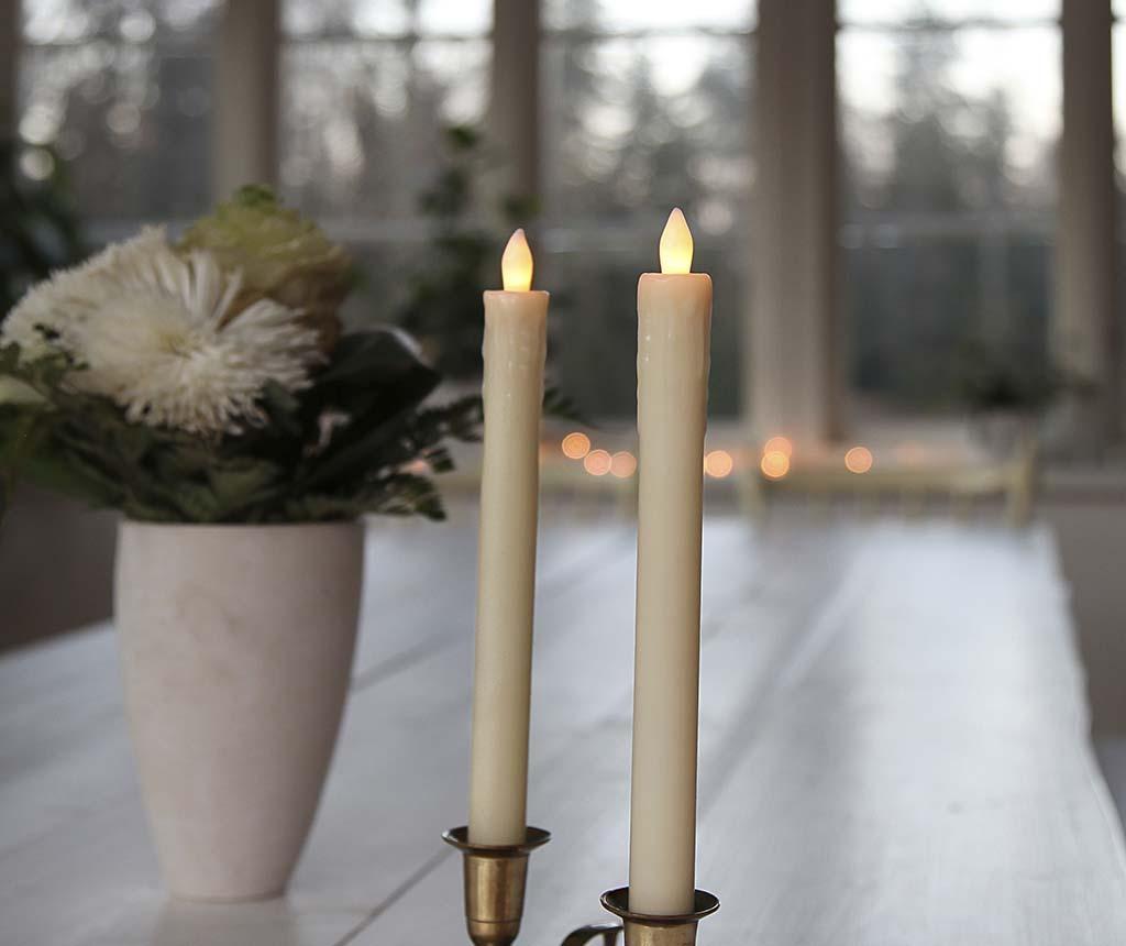 Set 2 svijeće sa LED-om Antique Cream