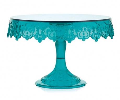 Lace Turquoise Talpas szervírozó tál
