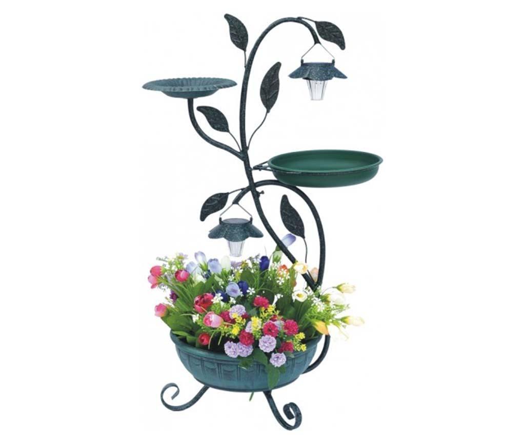 Držalo za cvetlične lonce s solarno svetilko Bird