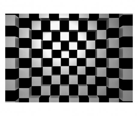 Tapet Black & White Squares 254x366 cm